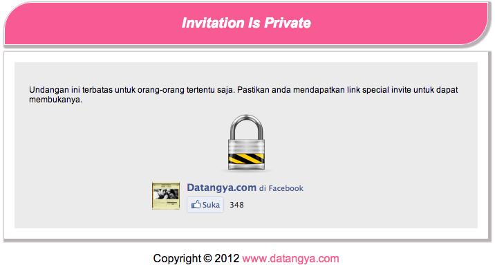 undangan private