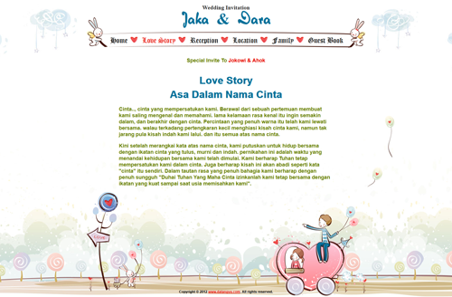 Theme undangan online : Romantic (undangan dengan background yang ...
