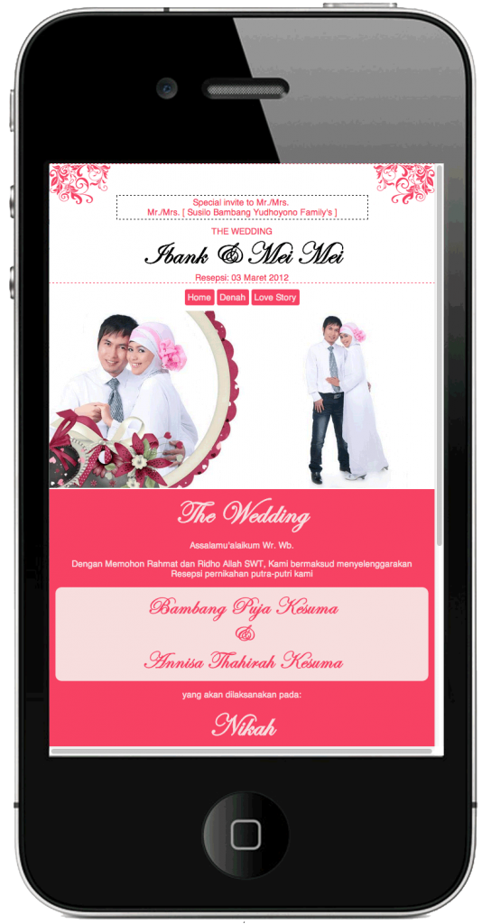 template mobile tampilan iPhone