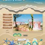 Tema undangan online Beach: undangan dengan suasana pantai