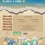 tema undangan online beach