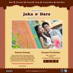Tema undangan online  Chocolate: undangan dengan background coklat yg manis