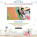 Theme undangan online : Romantic (undangan dengan background yang romantis )