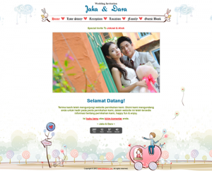 undangan online tema romantic