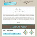 tema undangan online blue vintage