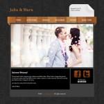 Tema undangan online einfache: undangan dengan design simpel background hitam