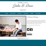 Tema undangan online standart-tosca: undangan gratis dengan design simple menawan