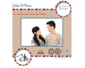 Tampilan Undangan online postcard