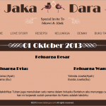 tema undangan online - halaman keluarga