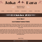 tema undangan online - halaman lovestory