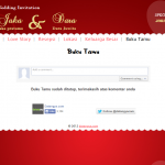 undangan online tema love