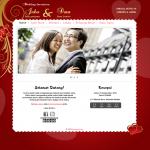 Tema undangan online Love – Undangan mewah terbalut warna merah dan gold