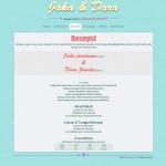 tema undangan online blue pastel