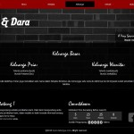 Undangan online tema black wall