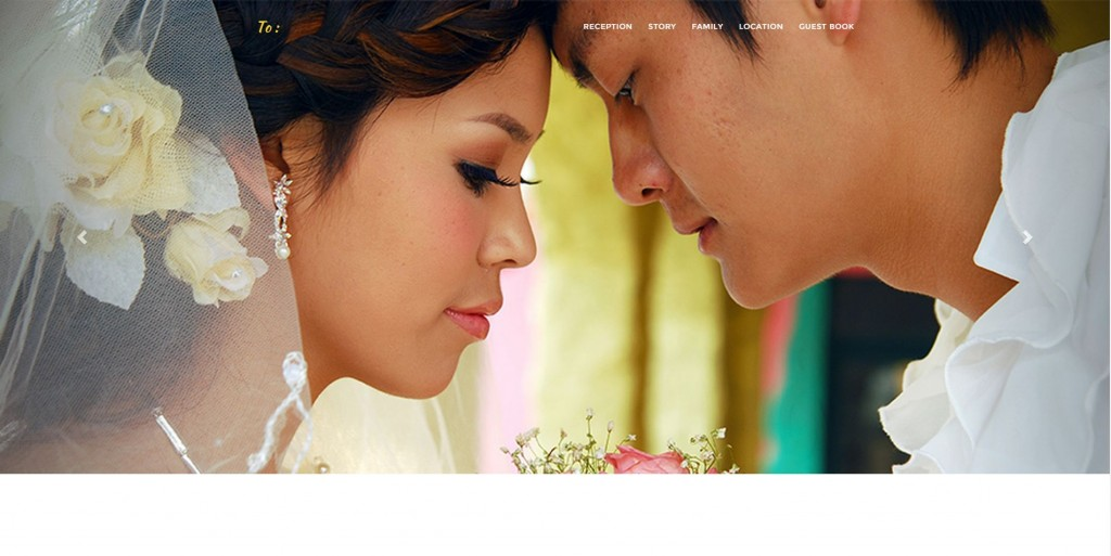 Desain undangan online one page yellow cover - Datangya