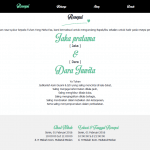 undangan online wayang menu resepsi