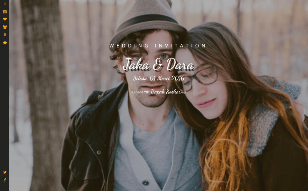Halaman Utama Desain undangan online Soul - Datangya