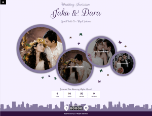Desain Undangan Online tema circle-purple home