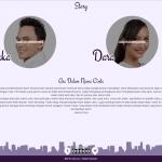 Desain Undangan Online tema circle-purple story