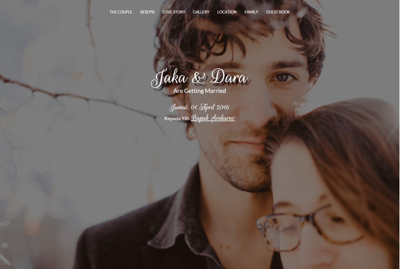 Desain undangan online Matrimony datangya - home