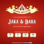 Desain Undangan Online Circus