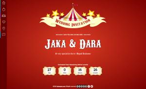 desain undangan online circus - home