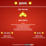desain undangan online circus - resepsi