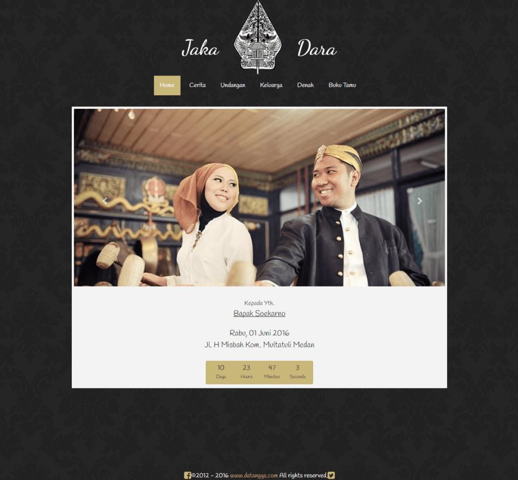 undangan pernikahan online elegant-traditional datangya.com - home