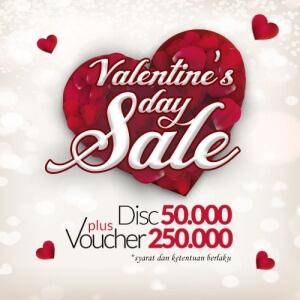 Valentine Day Sale 2017 Diskon 50 Ribu